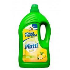 NONNA PAPERA PAITTI 4 Lt LIMONE / Засіб для миття посуду з ароматом лимону 4000 мл.