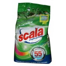 Сипучий пральний порошок з ароматом хвої і евкаліпта   SCALA LAVATRICE EUCALIPTO 3,96 KG