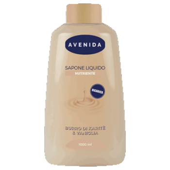 Рідке мило живильне Каріте і ваніль 1000мл AVENIDA SAPONE LIQUIDO  NUTR. KARITE&VANIGLIA 1000 ML