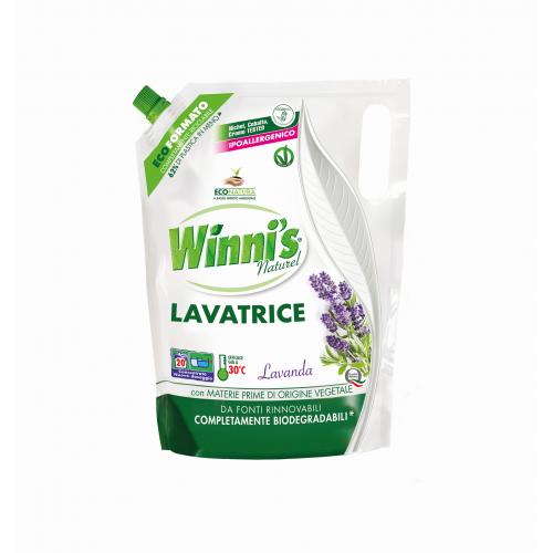 Гель для прання будь-яких типів волокон і делікатного одягу на 20 прань WINNI'S LAVATRICE ECO-FORMATO LAVANDA 1000 ml
