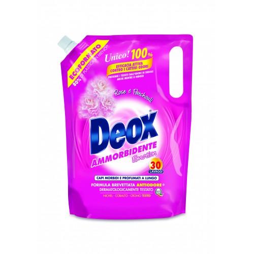 Кондиціонер-пом'якшувач з ароматом троянди DEOX AMMORBIDENTE ROSE E PATCOULI 1,5l.