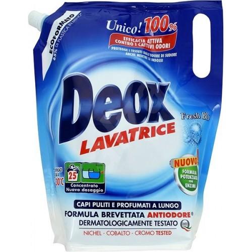 Рідкий пральний порошок DEOX Lavatrice Fresh Blu Экоформат 1375 мл (25 прань)