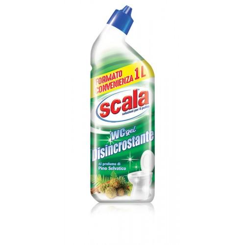 Гель для прибирання туалету з антивапняковим ефектом і ароматом хвої SCALA WC gel Disincrostante 1000 ml