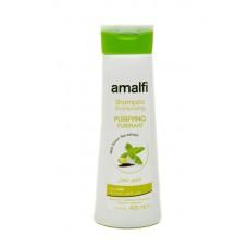 Amalfi 400ml Shampoo PURIFYING with GREEN TEA EXTRACT / Шампунь очищающий для ЖВ Зелений ЧАЙ  (10pz)