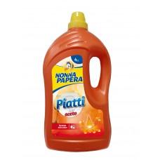 NONNA PAPERA PAITTI 4 Lt ACETO / Засіб для миття посуду з оцтом 4000 мл.