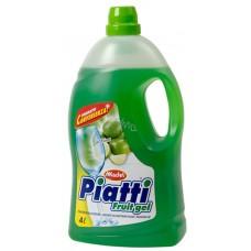 Гель для миття посуду з ароматом лайма MADEL PIATTI FRUIT GEL LIME 4L