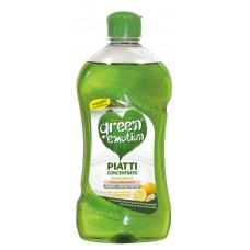 ЕКО засіб для миття посуду концентр. лимон GREEN EMOTION piatti con. LIMONE 500 ml.