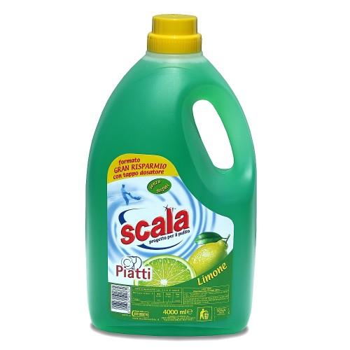 Засіб для миття посуду з ароматом лимону SCALA PIATTI LIMONE 4 L